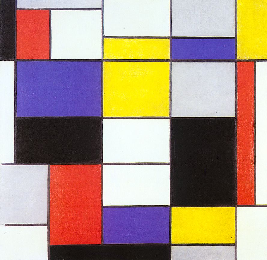 Composition A, by Piet Mondrian; Photo: Wikiart.org