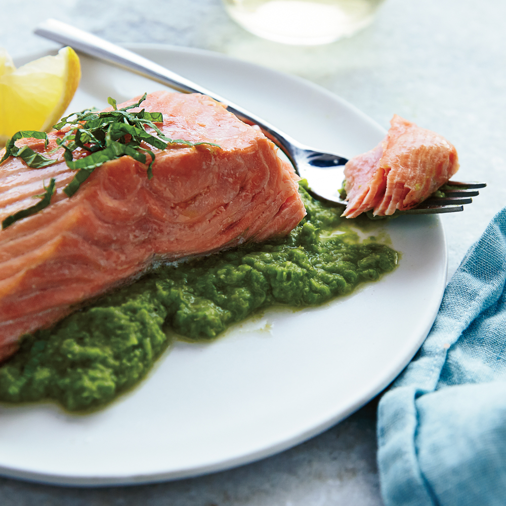 Salmon & Pea Puree