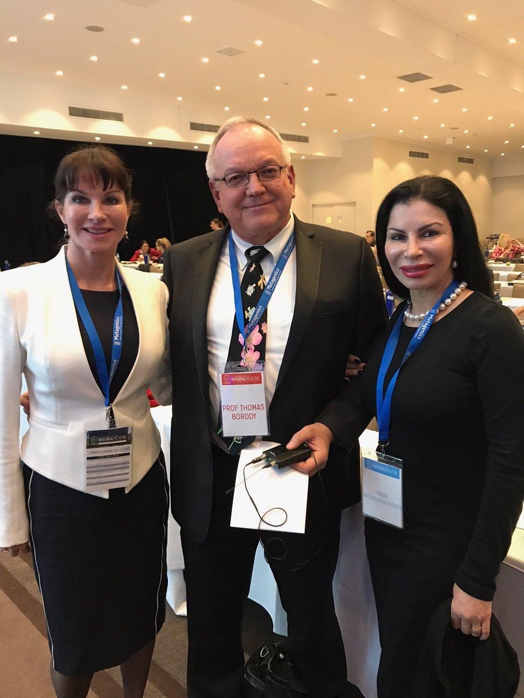 Dr Julie Bradford, Professor Thomas Borody { Faecal Transplanter Extraodinaire} & Mara Bontempo