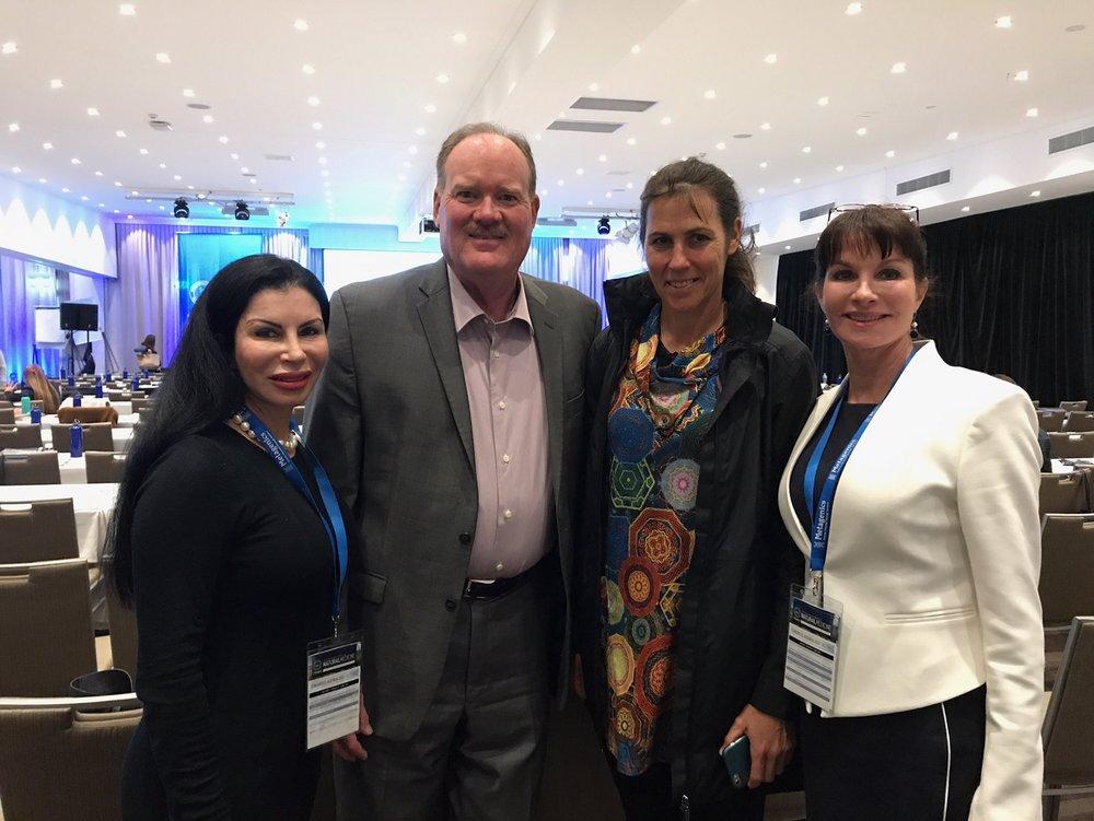 Dr Julie Bradford {far left} Mara Bontempo, Dr Jeffrey Bland {Father of functional medicine} & Dr Georgina Hale