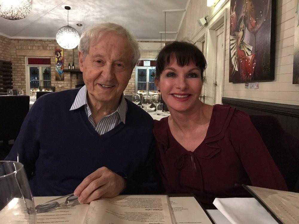 Dr Julie Bradford with Dr Braham Rabinov {gut expert}