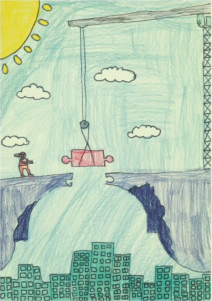 Artist: Sun Yuan-Hare, age 9, Montessori East