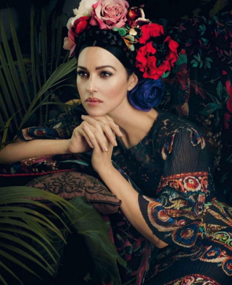 Monica bellucci colour flower dress design portrait.jpg