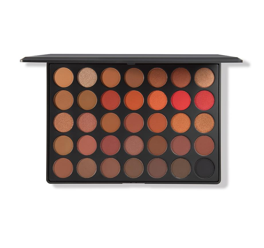 Morphe 35o2 Second Nature Eyeshadow Palette- I use the shade Ablaze on my lids.