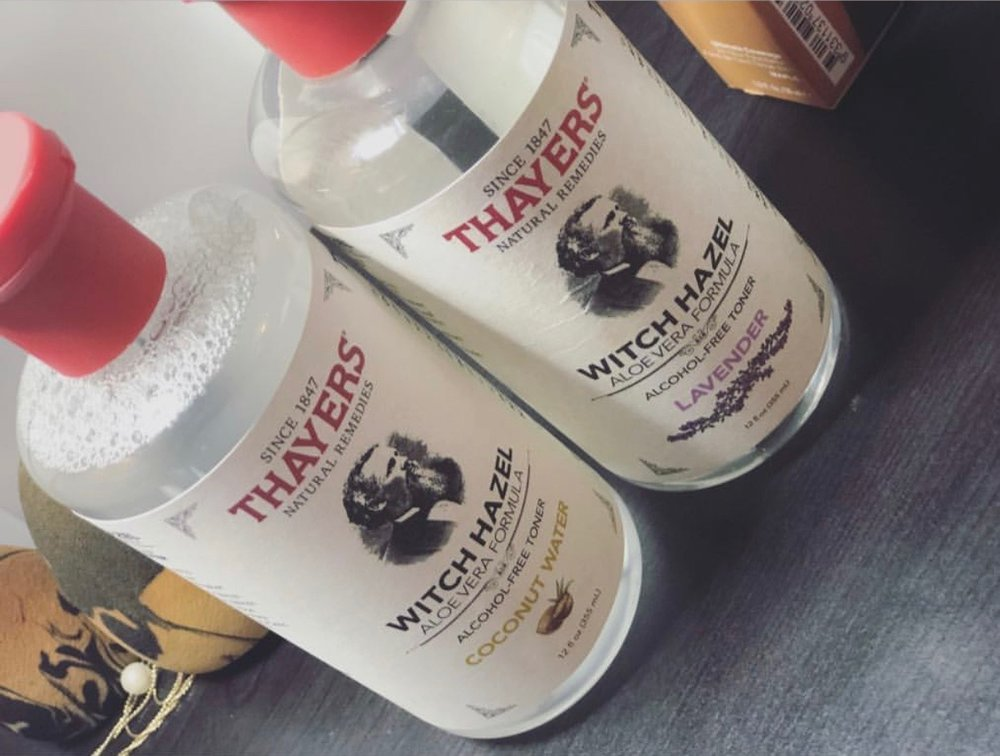 Witch Hazel Coconut Water Toner - use to control oils, tighten pores, and cleanse face.