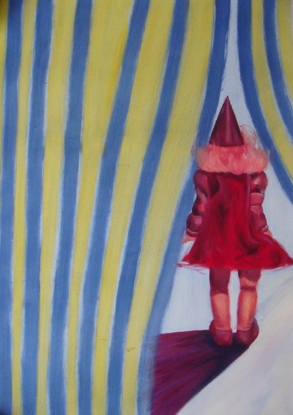 Circus Doll , 2007 oil on paper