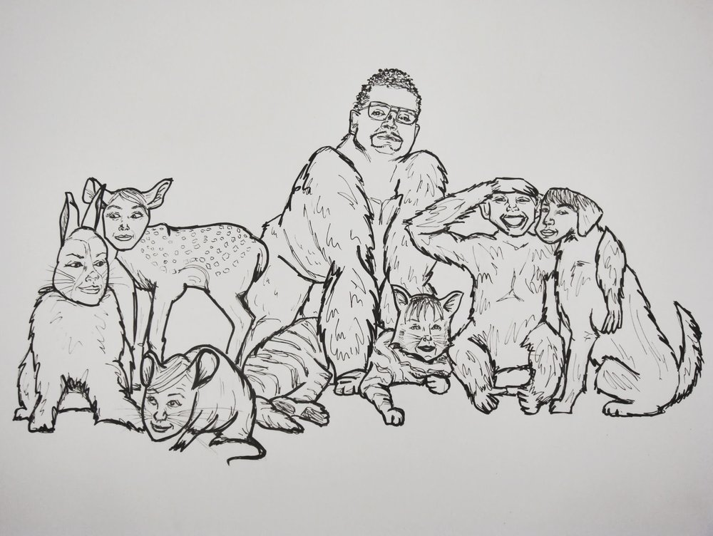 Family Portrait , 2009 ink on paper