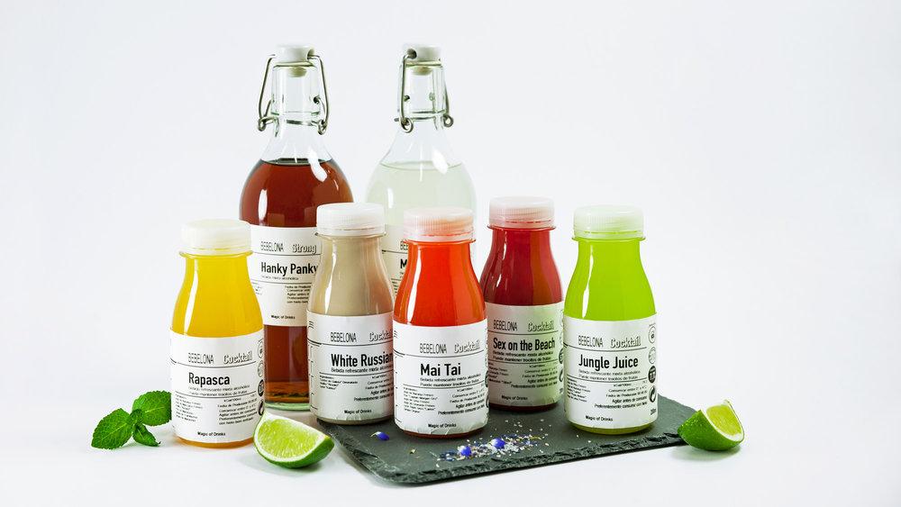 Fresh mix - Gaudeix dels còctels FRESC FET de les nostres receptes i de populars adaptades per Bebelona. Fem servir les begudes famoses alcohòliques, xarops i purés barrejats amb sucs COLD PRESS