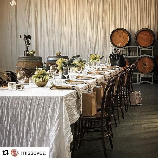 Another great photo from @curated_events  for the #longlunch held at #venue @studiorawmaterials in #melbourne #eventprofs #styling #eventspace
