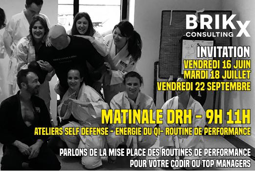 Matinale DRH et RRH - Invitation Brikx Consulting - Performance CODIR et Top Managers