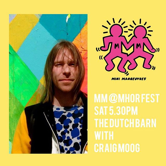 Next up for our stint at @mhorfest is one of Glasgow's best loved djs and head of new record label @elisco__ , Craig Moog! We can't wait to see what Craigy packs in his record bag, it's always a treat! Both Craig and our Friday guest Dan Monox are dads too, in keeping with the family vibes at @mhorfest. We are buzzing 🐝🐝🐝 #discodads lol #minimanoeuvres #bankholidayweekend #mhorfestival @themhorcollection