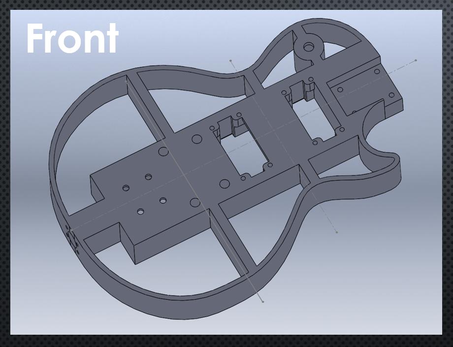 3D Printed Guitar CAD 1