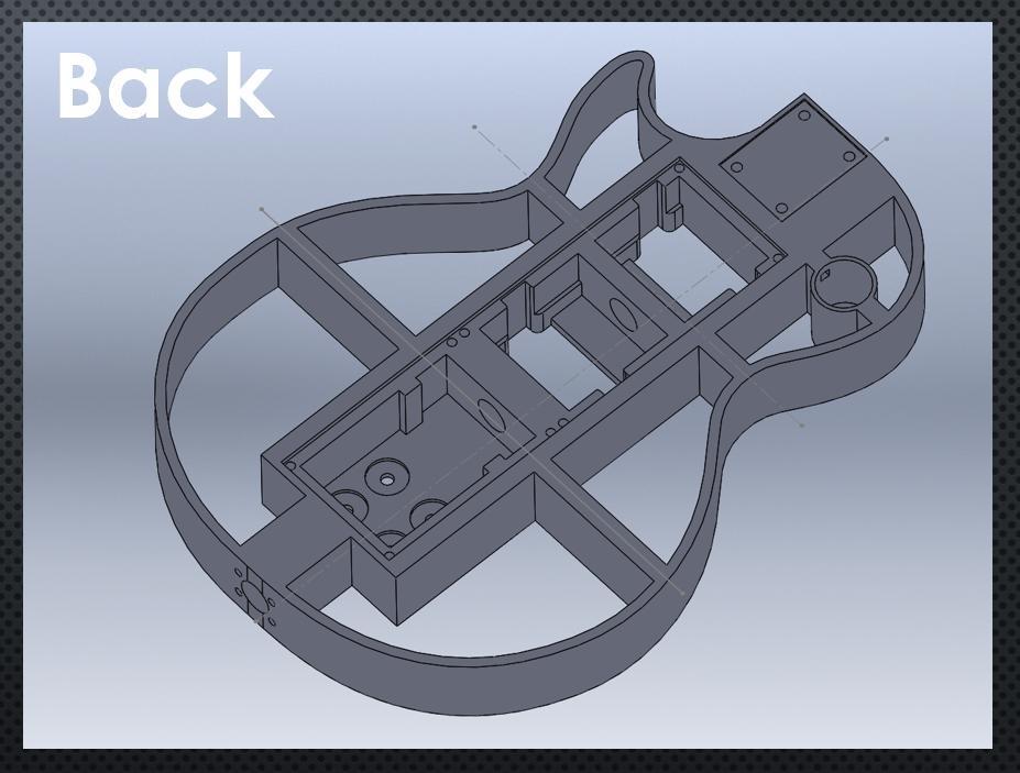 3D Printed Guitar CAD 2