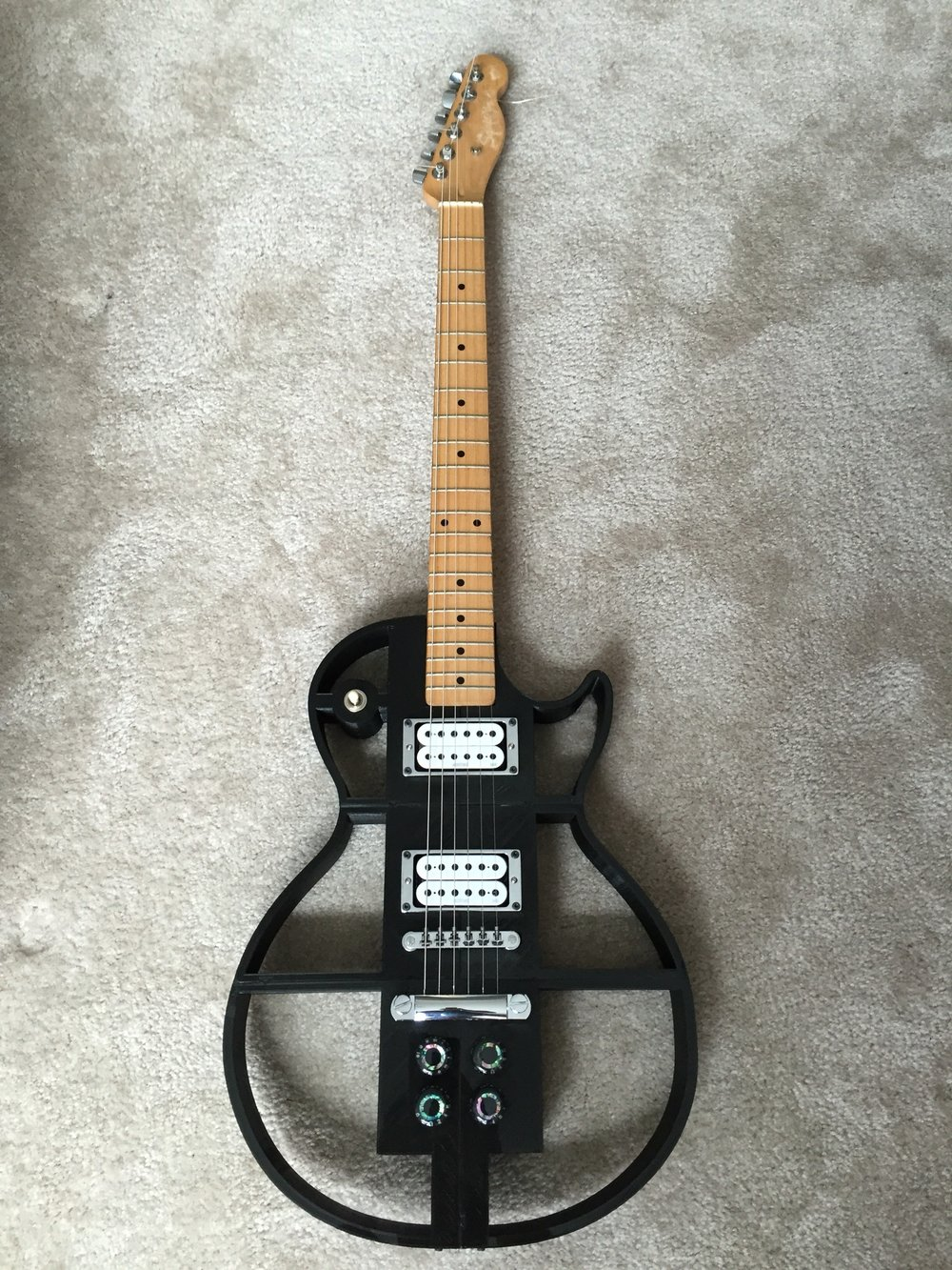 3D Printed Guitar Front View