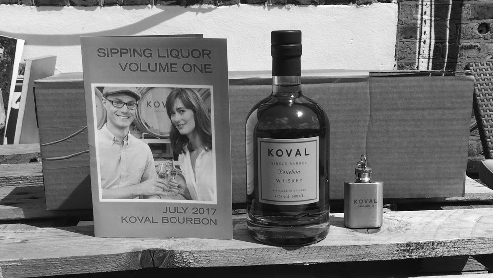 Sipping Liquor box with Koval Bourbon