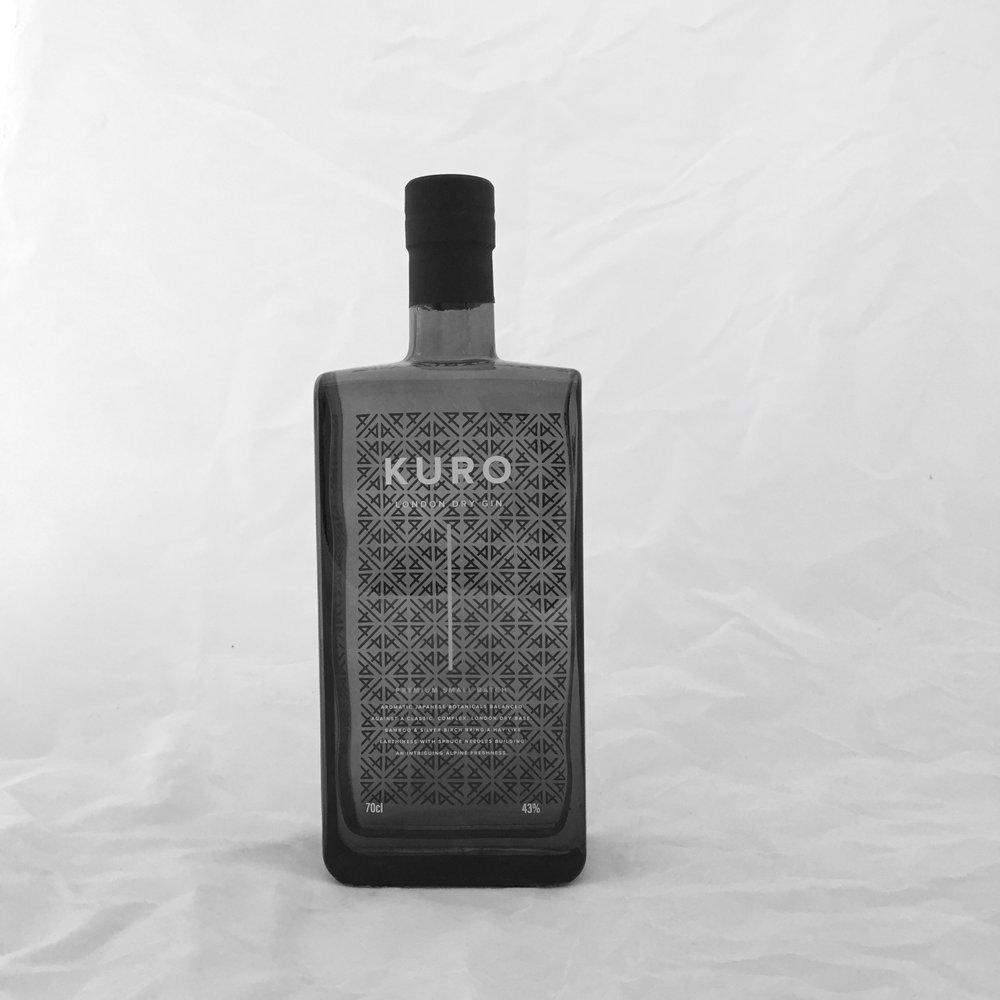 Kuro Gin bottle