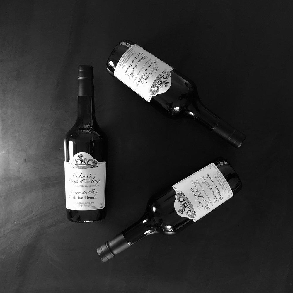Christian Drouin Calvados Bottles