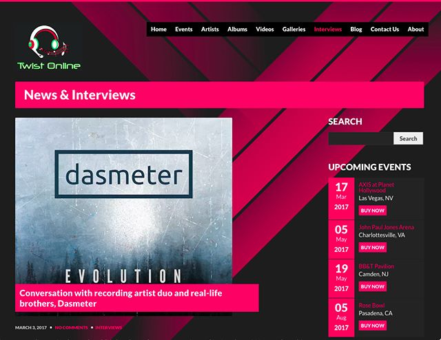 ‪Check out the Twist Online interview with our own @heavydms about @dasmeter and our new album, #Evolution! #edm #electronica #newmusic #newartists  https://goo.gl/cDIVq3