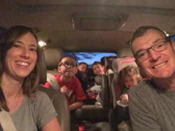 Departure family selfie!