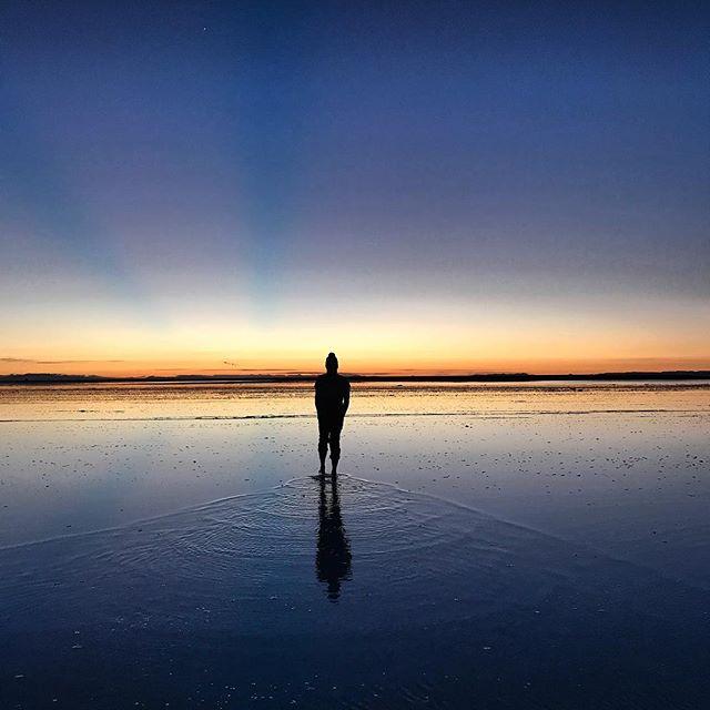 Walking on water in salar de uyuni. A sunrise I will forever treasure!  #etihad1million