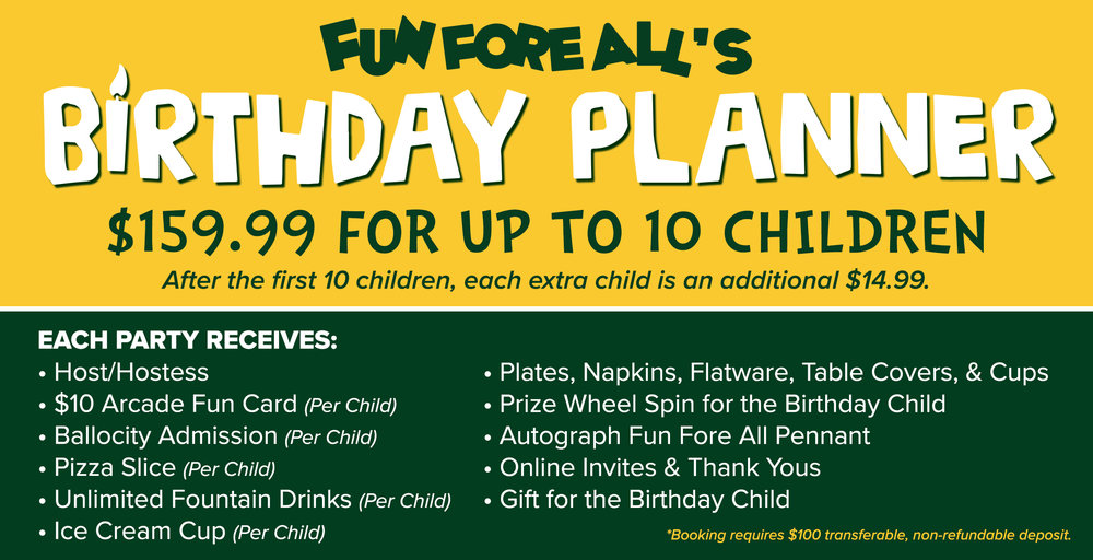 birthday parties groups fun fore all family fun park
