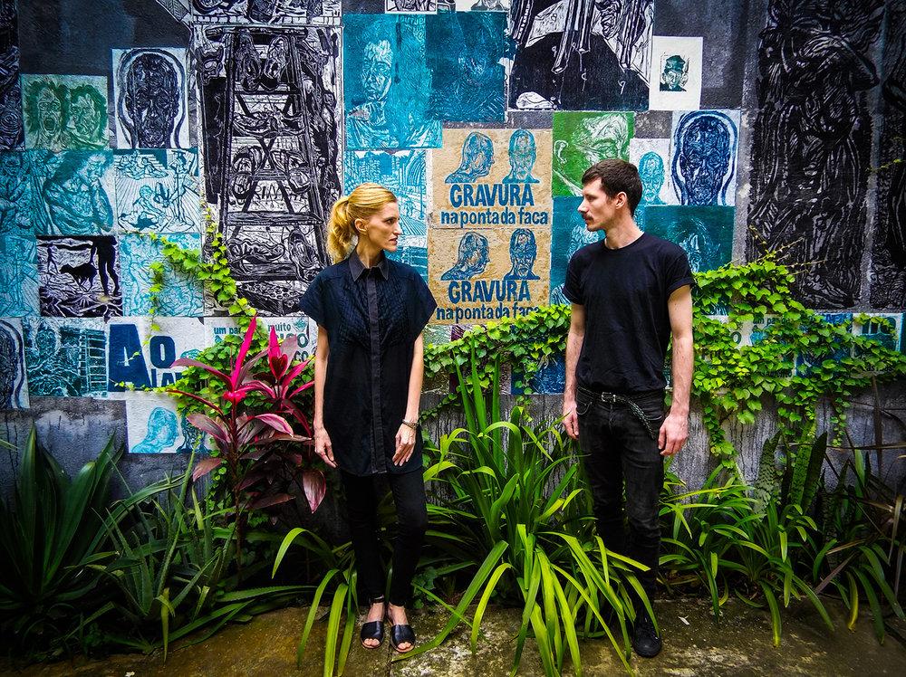 Retrato da dupla G T`Aime, Geanine Marques e Rodrigo Bellotto. Foto: Tiago Queiroz