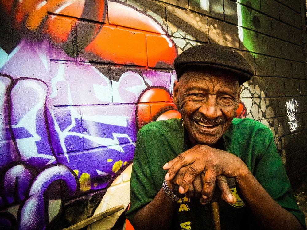 On the photo, Carlos Caetano, 87, aka Carlão da Peruche, from the Senior wing of the Samba Community. Rehearsal at Unidos do Peruche Samba Community. Photo: Tiago Queiroz