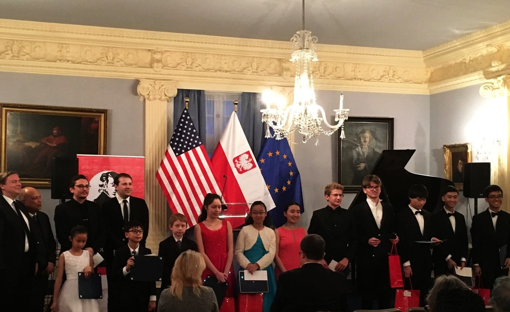 Winners Recital At The Embassy of Poland Washington DC