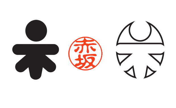 The logo is a Hanko, a Japanese seal