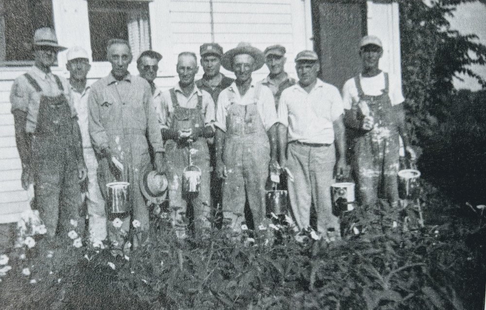 Parsonage Painting Crew - about 1950