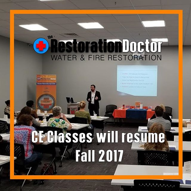 On Tuesday we hosted another round of CE CLASSES. Jeff from CRDN taught classes on ethics and hoarding. Classes will resume in the fall. Visit www.restorationdoctorUS.com for more info! #therestorationdoctor