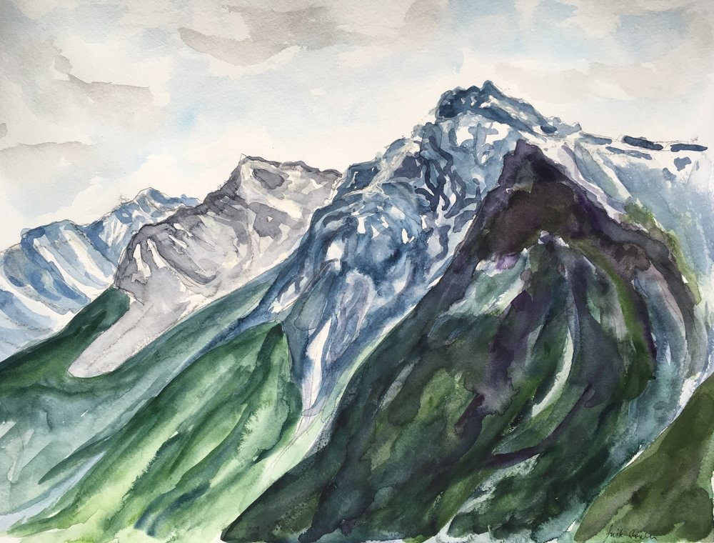 Wasootch Ridge, watercolor on paper (12x16 inches)