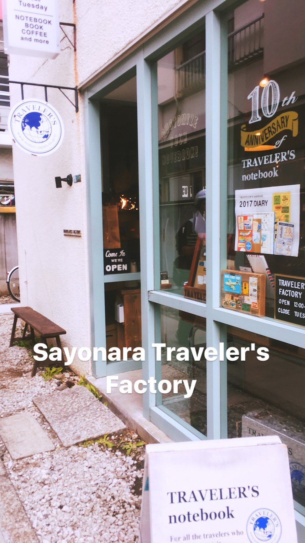 The Traveler's Factory store-front