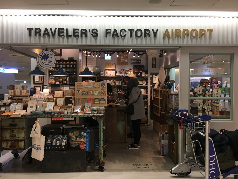 The smaller Traveler's Factory outlet at Narita Airport. Yes I went to two Traveler's Factory stores in my 4.5 days in Tokyo.