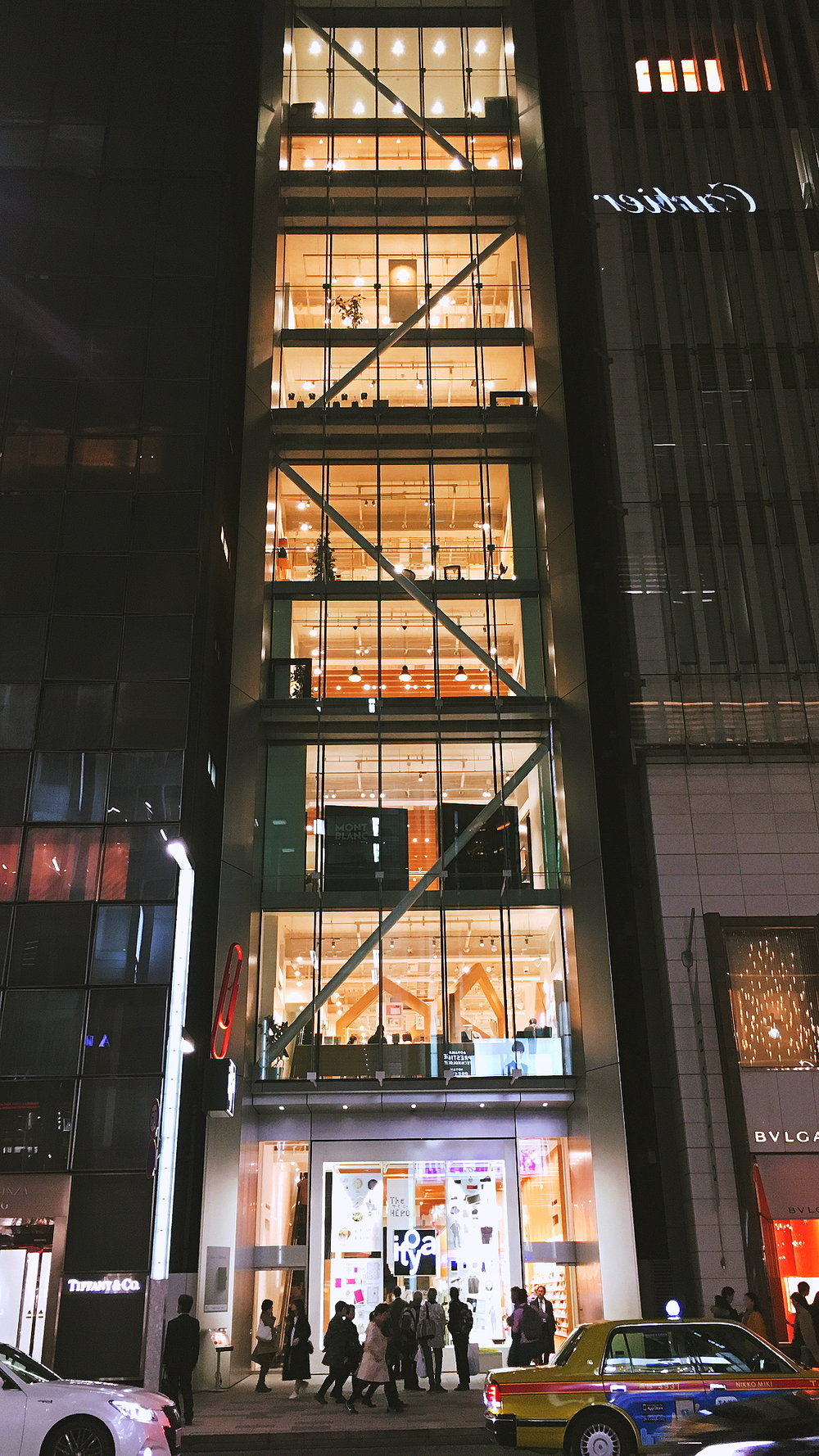 Itoya, Ginza store-front. All the floors here are stocked with stationery.