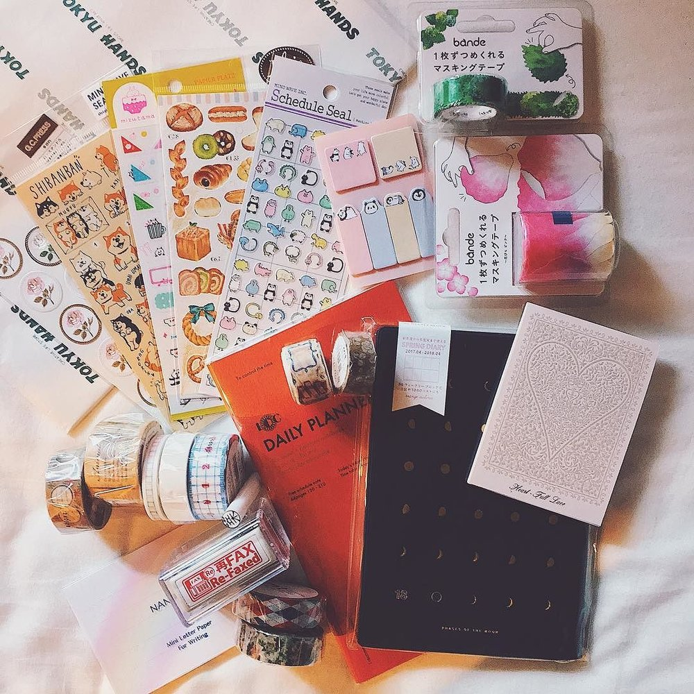 My final stationery loot from Tokyu Hands, Shibuya