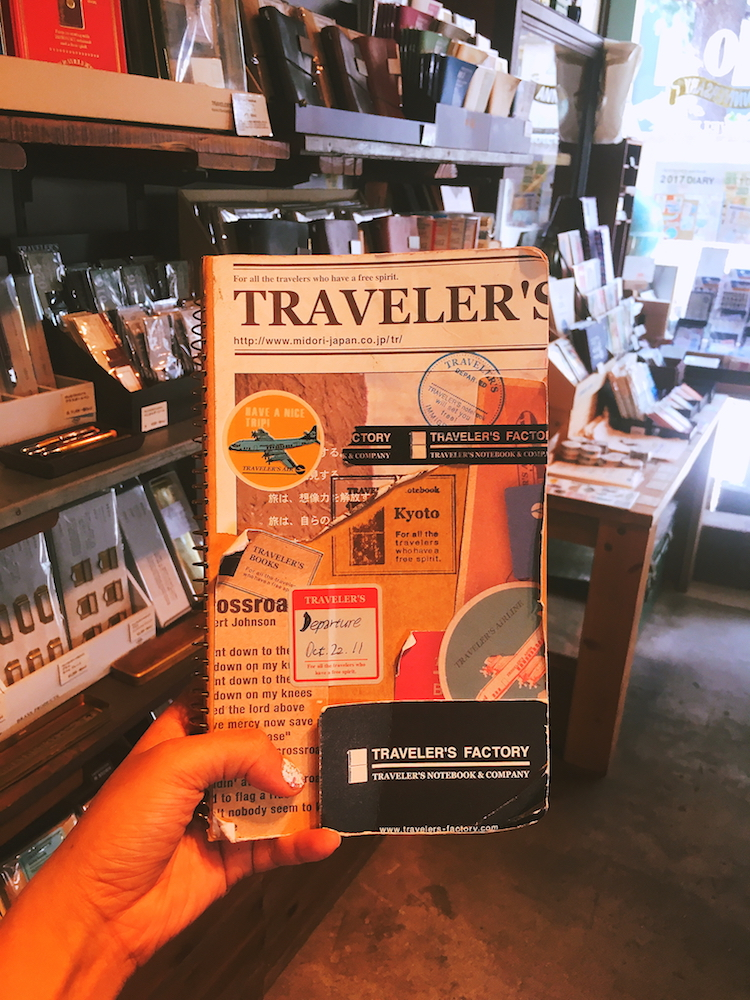 Travelers Notebook insert sample at Traveler's Factory