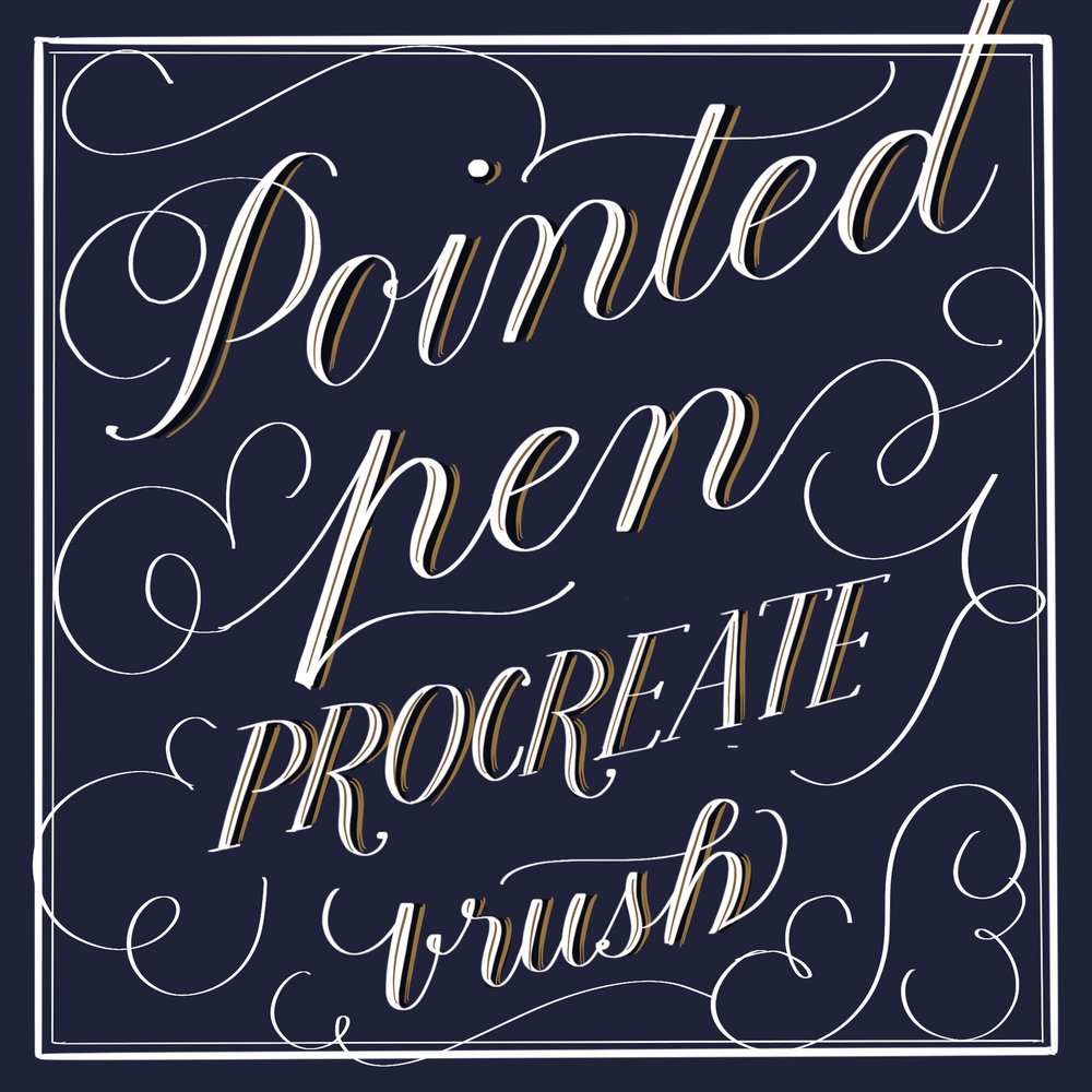 pointed pen procreate calligraphy brush