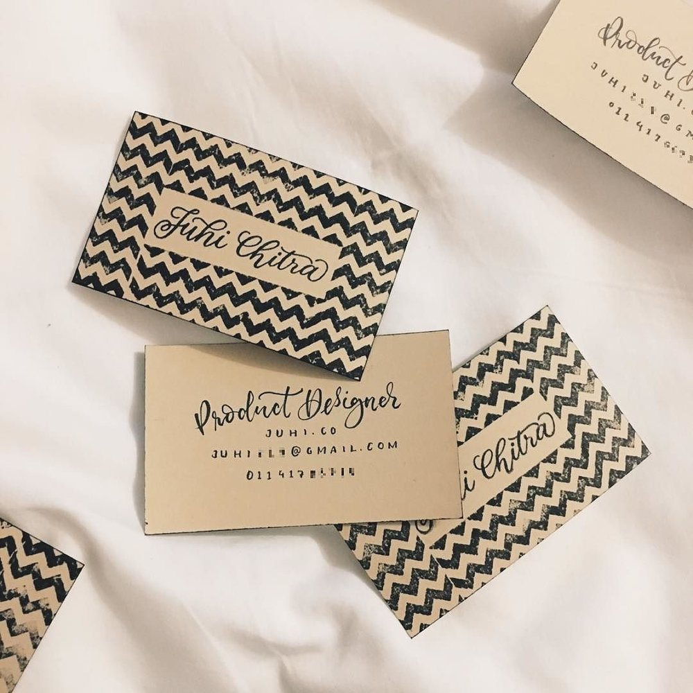 How I handmade my business cards: 3 DIY designs - The Scratchy Nib ...