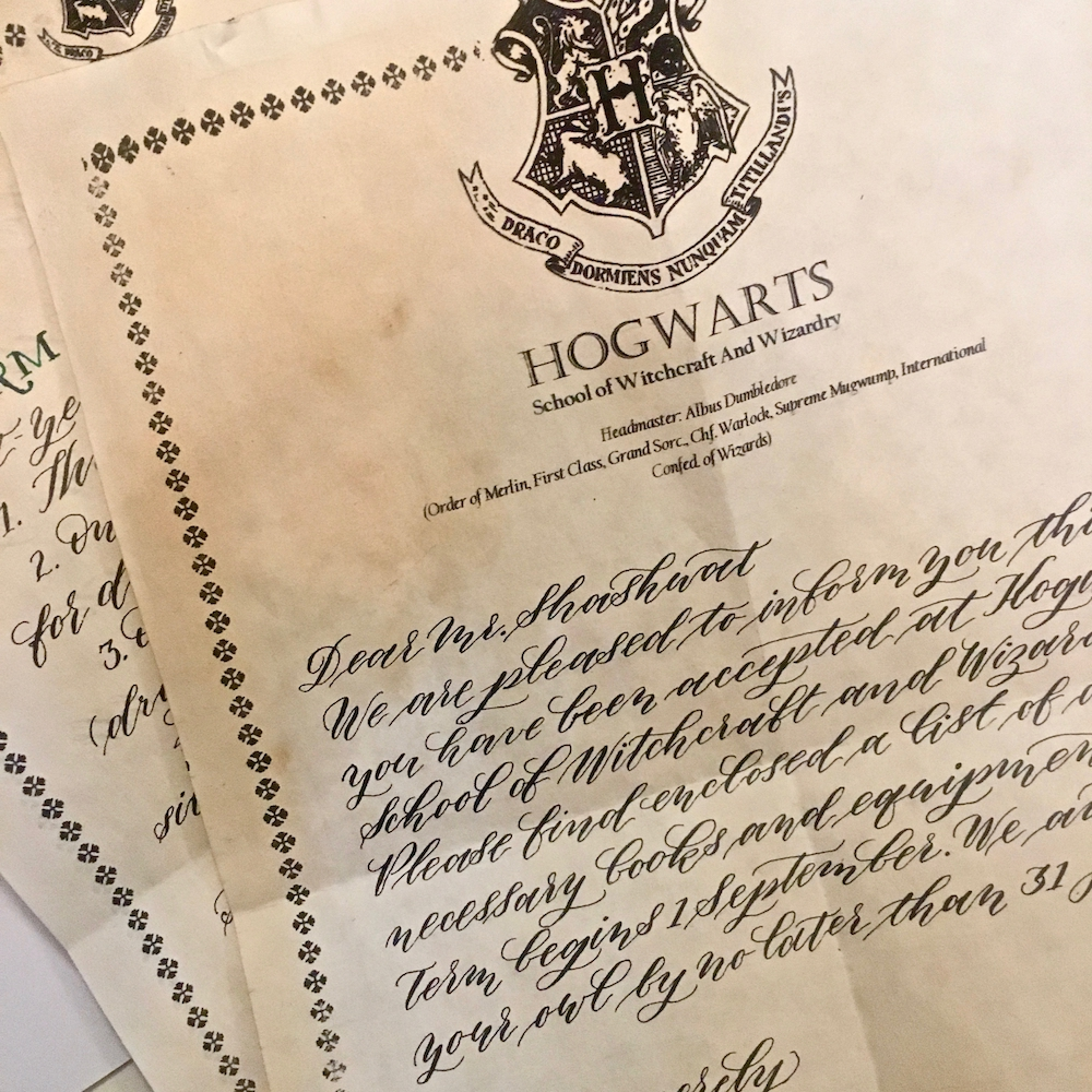 Hogwarts stationery