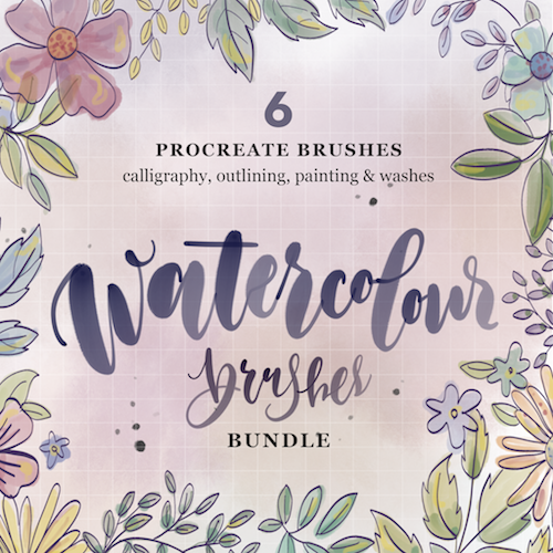 New Watercolour Brushes for Procreate - The Scratchy Nib