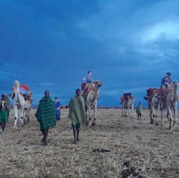 Evening Family Camel Ride