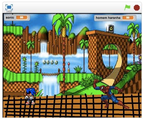 Sonic vs Homem Aranha   Tiago - 3oD