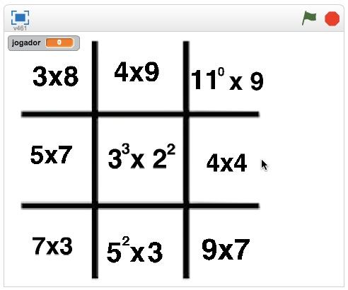 Matemática - Jogo da Velha da Tabuada