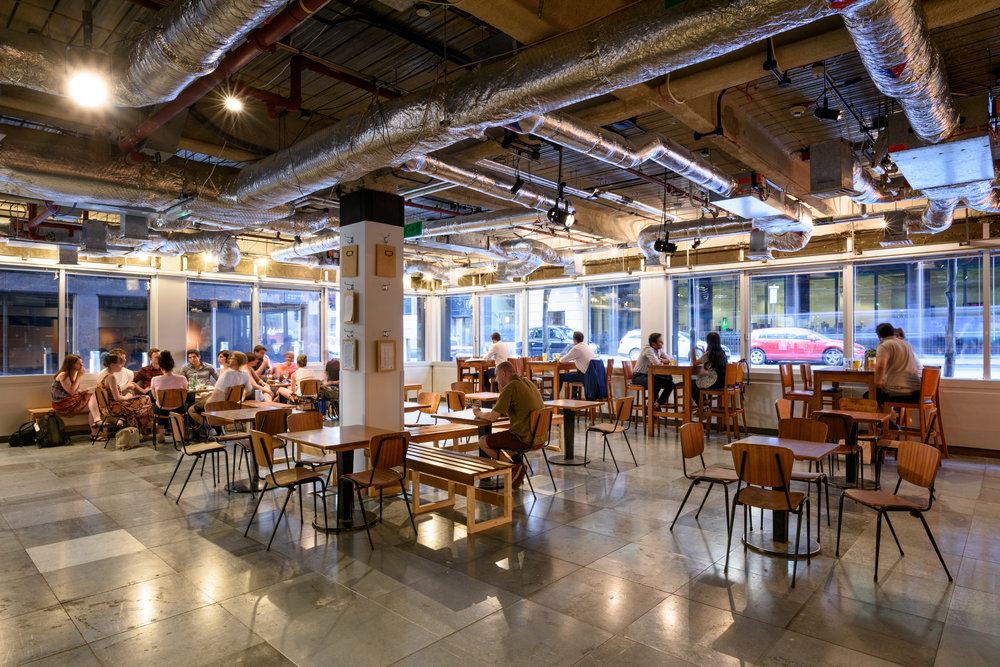Broadgate - Central London Current Broadgate is Theatre Deli's most slick operation to date. By partnering with British Land, Broadgate Estates and The Nursery Theatre, Theatre Deli Broadgate is proving to be a epicentre of cultural activity in the City of London.
