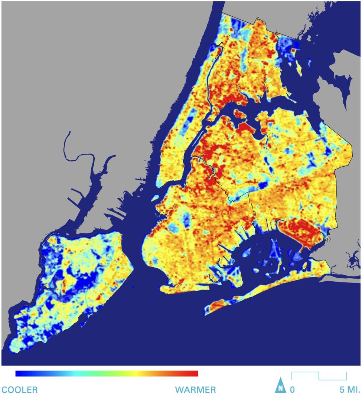 Source: Landsat Thermal Data, 08/18/09. NYCDOHMH