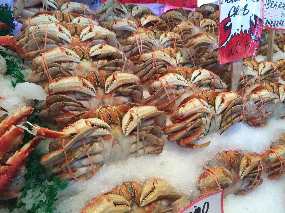 market crabs