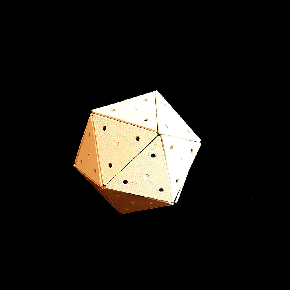 And bigger (icosahedron) - we just loved this shape!