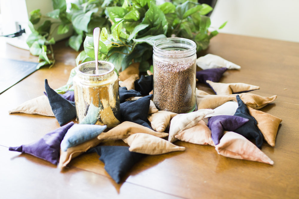 The Womb Warming Pillow contains our proprietary blend of herbs specifically designed to relax your body and balance your hormones. - Simply pop it in the oven for a few minutes to activate and fill your home with the sultry and sacred scent of these powerful plants.