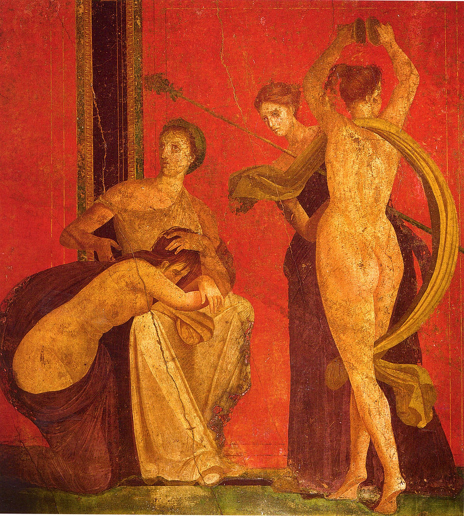 Fresco depicting women's mysteries. Villa dei Misteri, Pompei